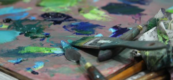 抽象油畫課程工作坊 下午班