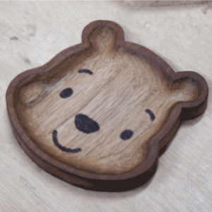 創意木工DIY 原木木置物碟